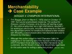 merchantability case example