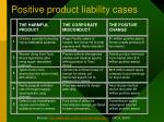 positive product liability cases