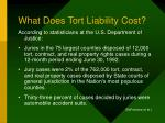 what does tort liability cost