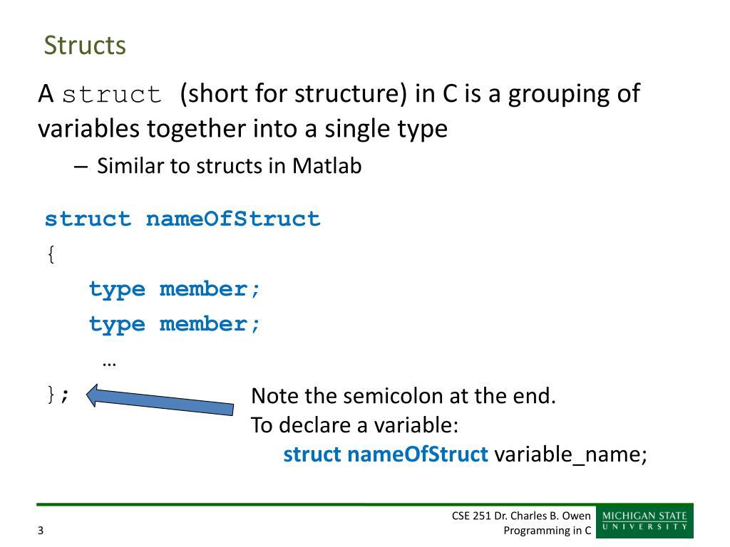 PPT - structs PowerPoint Presentation - ID:3710241