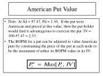 american put value
