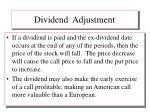 dividend adjustment