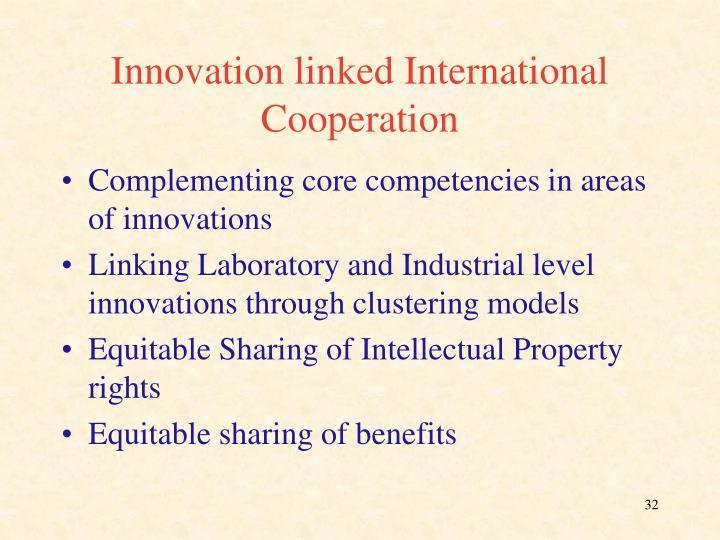 Innovation linked International Cooperation