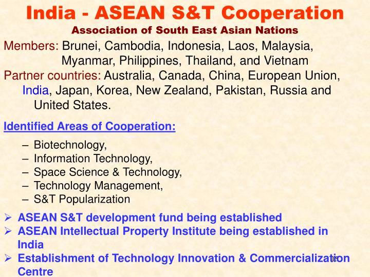 India - ASEAN S&T Cooperation