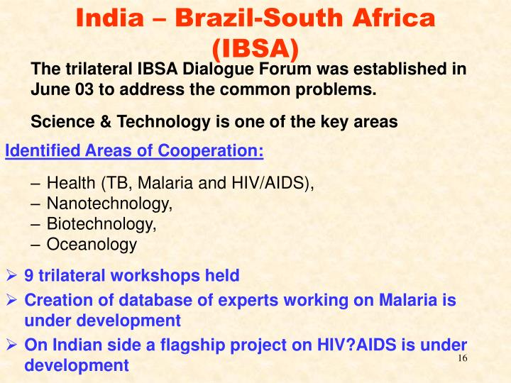 India – Brazil-South Africa