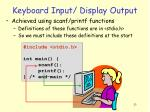 keyboard input display output