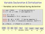 variable declaration initialization