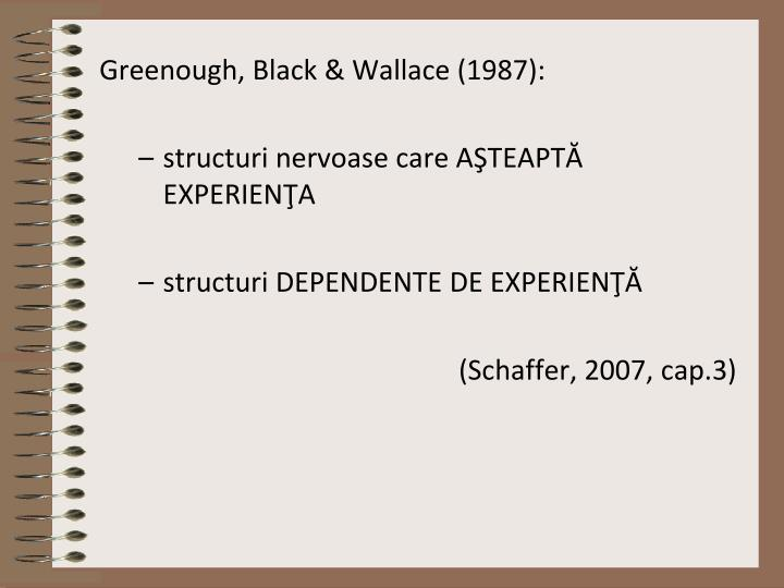 Greenough, Black & Wallace (1987):