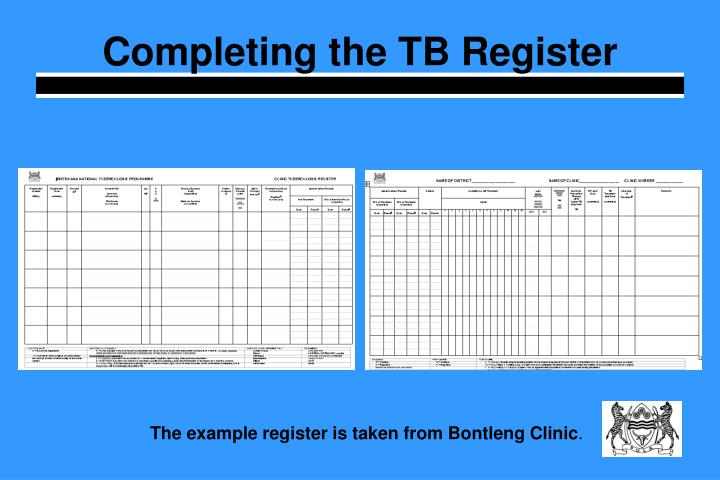 Completing the TB Register