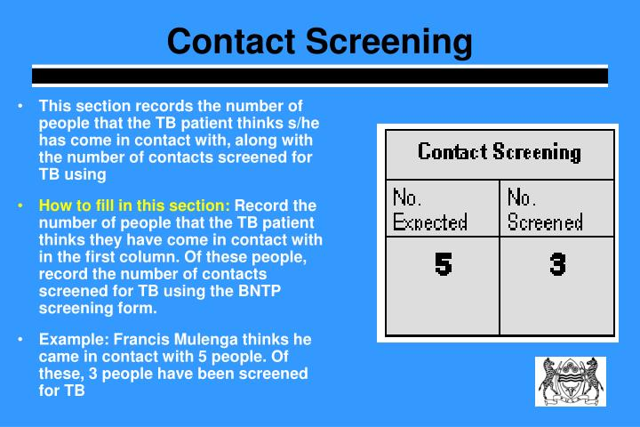 Contact Screening