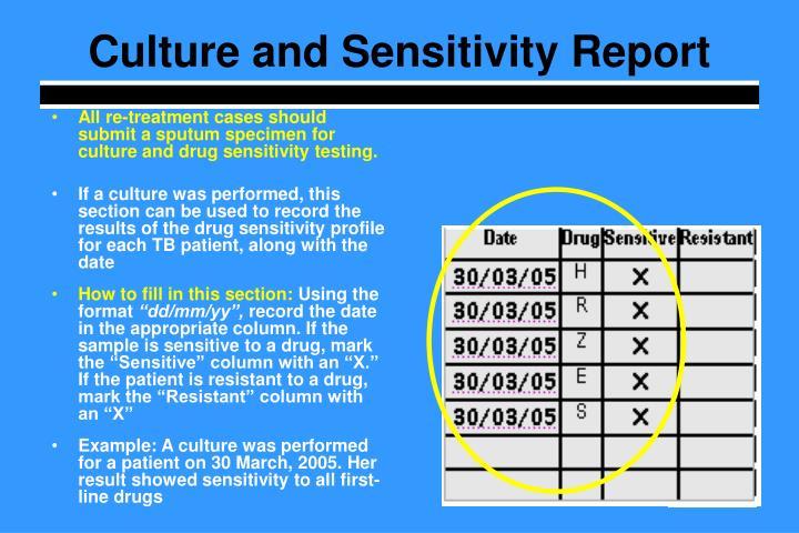 Culture and Sensitivity Report