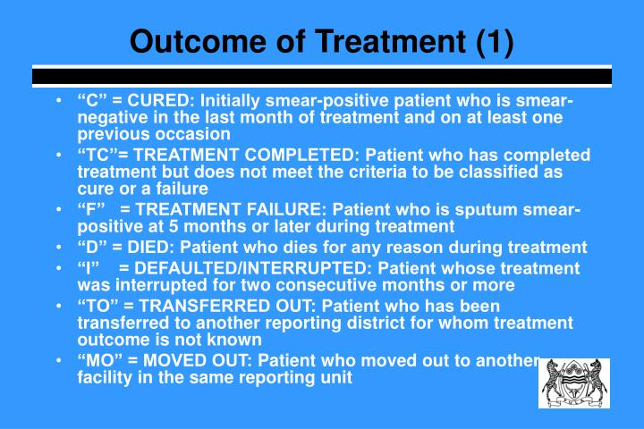 Outcome of Treatment (1)
