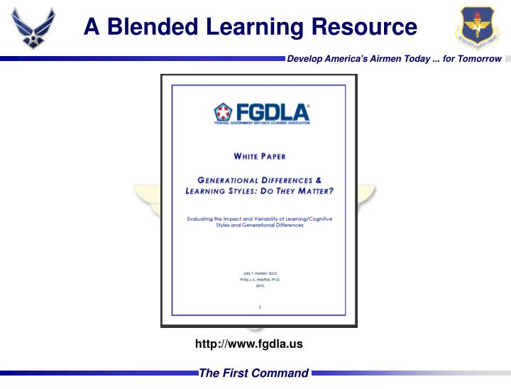 A Blended Learning Resource