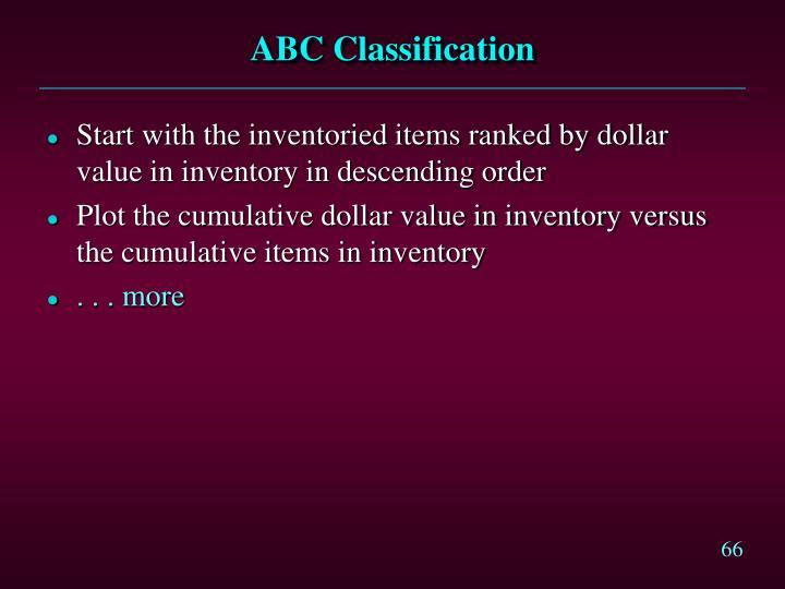 ABC Classification