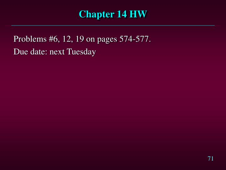 Chapter 14 HW