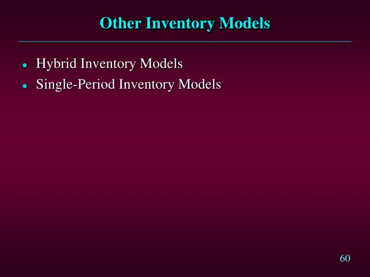 Other Inventory Models