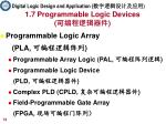 1 7 programmable logic devices