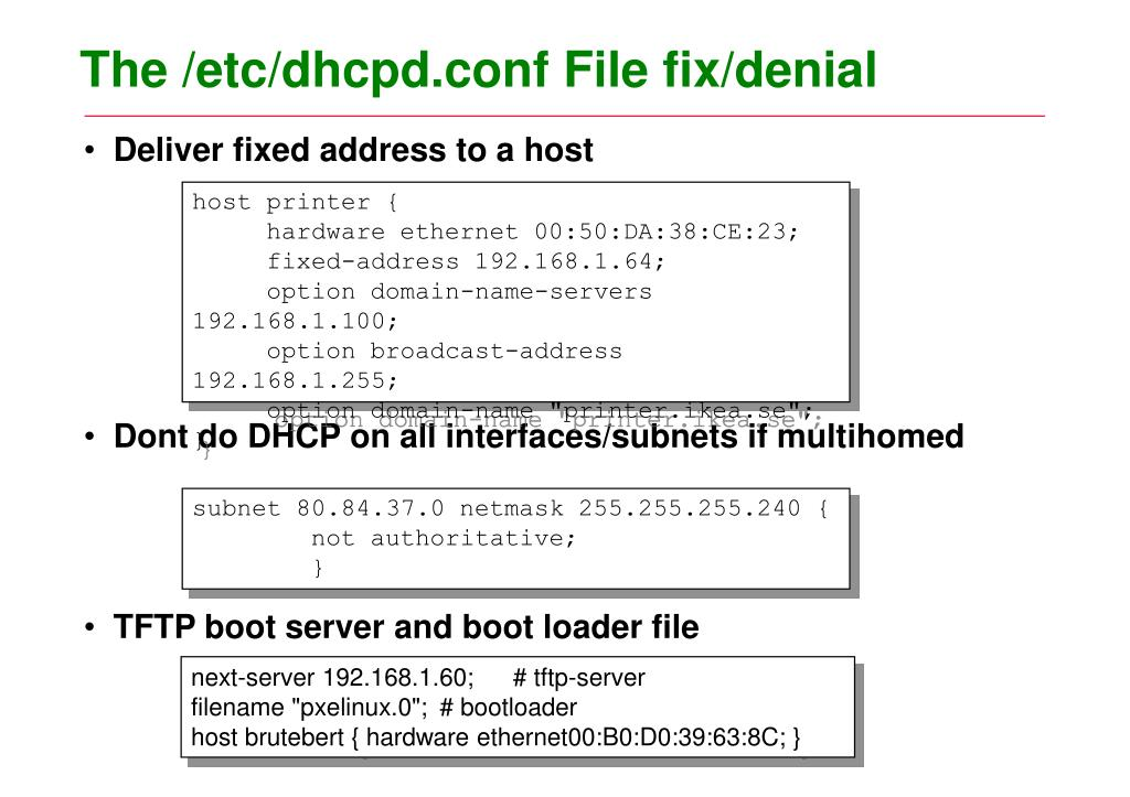PPT - DHCP server & Client PowerPoint Presentation - ID:3711102