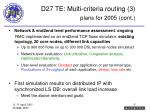 d27 te multi criteria routing 3 plans for 2005 cont