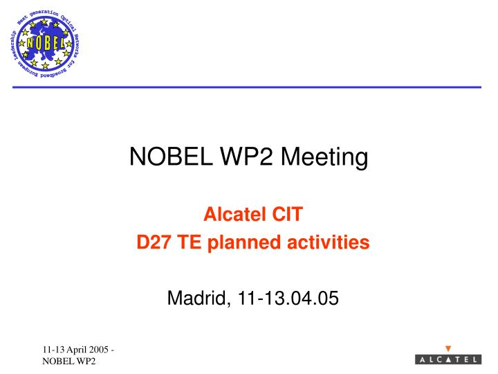 nobel wp2 meeting n.