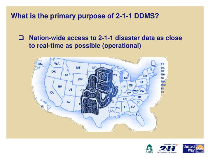 What is the primary purpose of 2 1 1 ddms