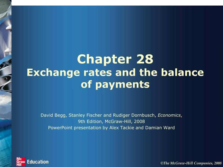 Chapter 28 exchange rates and the balance of payments