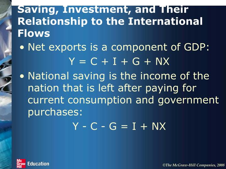 Saving, Investment, and Their Relationship to the International Flows