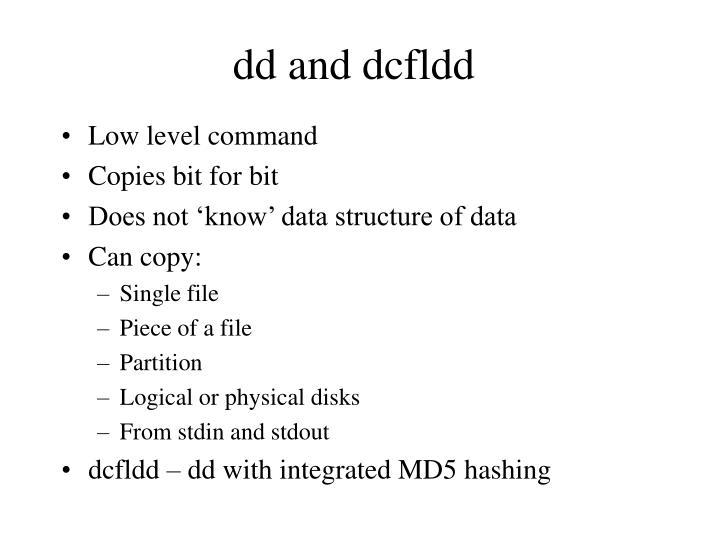 dd and dcfldd