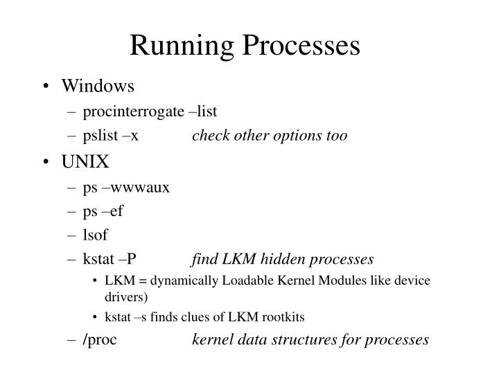 Running Processes