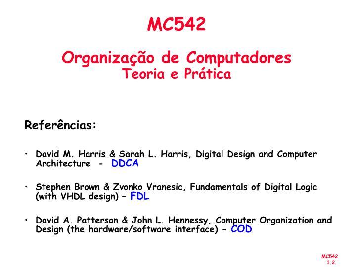 Mc542 organiza o de computadores teoria e pr tica1
