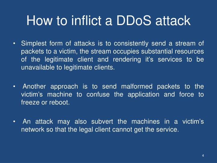 How to inflict a DDoS attack