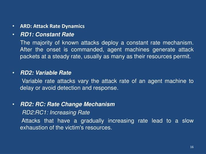 ARD: Attack Rate Dynamics