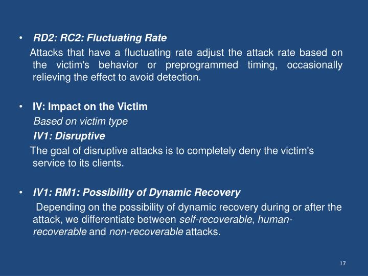 RD2: RC2: Fluctuating Rate