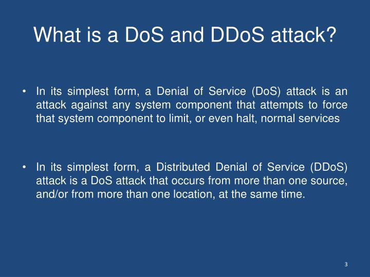 What is a dos and ddos attack