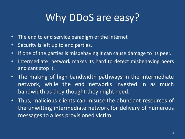 Why DDoS are easy?