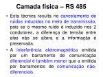 camada f sica rs 4852