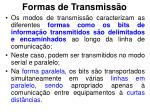 formas de transmiss o2