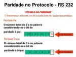 paridade no protocolo rs 232