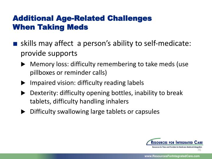 Additional Age-Related Challenges
