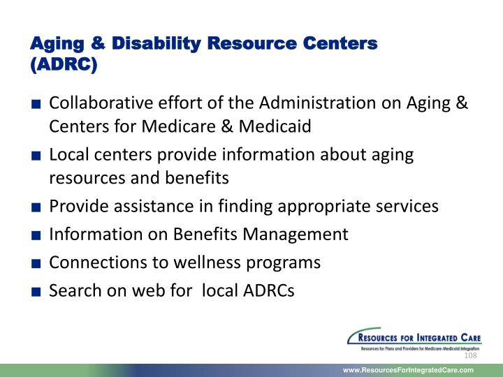 Aging & Disability Resource Centers