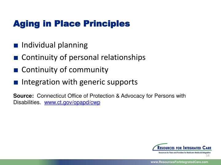 Aging in Place Principles