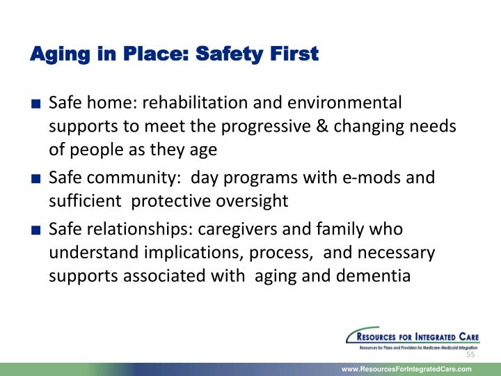 Aging in Place: Safety First