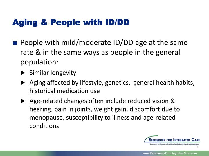 Aging & People with ID/DD