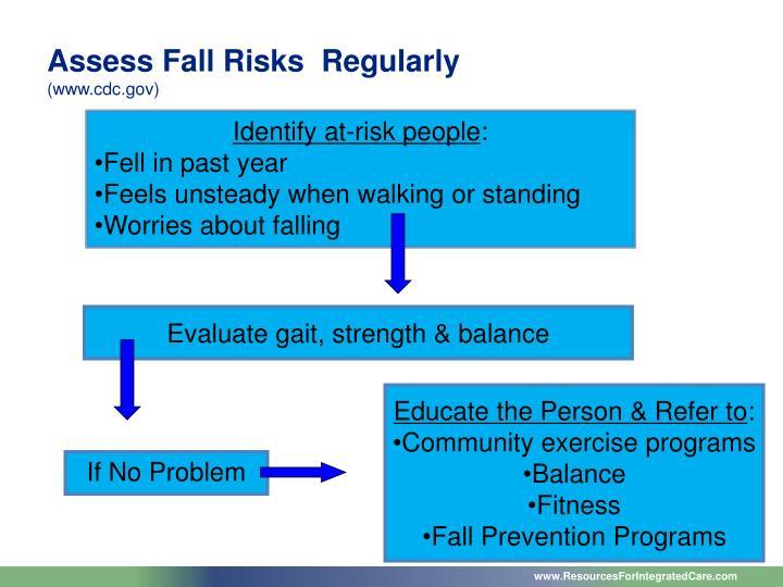 Assess Fall Risks  Regularly