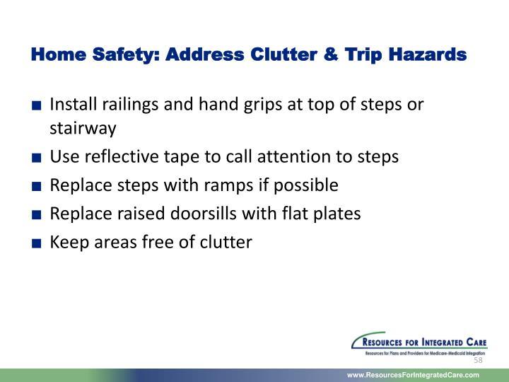 Home Safety: Address Clutter & Trip Hazards