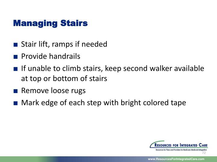 Managing Stairs