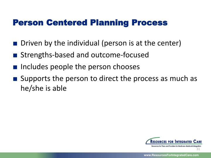 Person Centered Planning Process