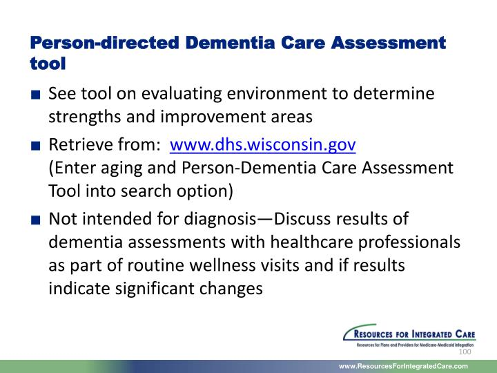Person-directed Dementia Care Assessment tool