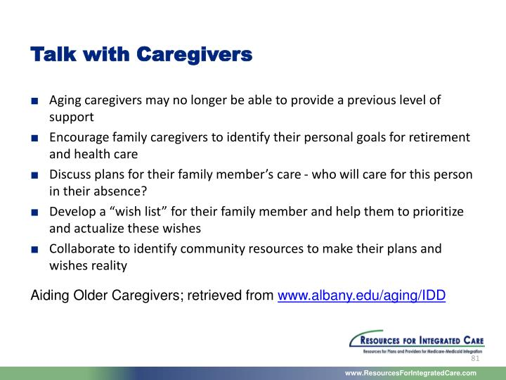 Talk with Caregivers