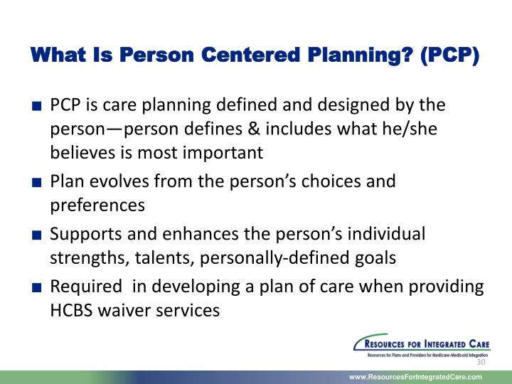 What Is Person Centered Planning? (PCP)